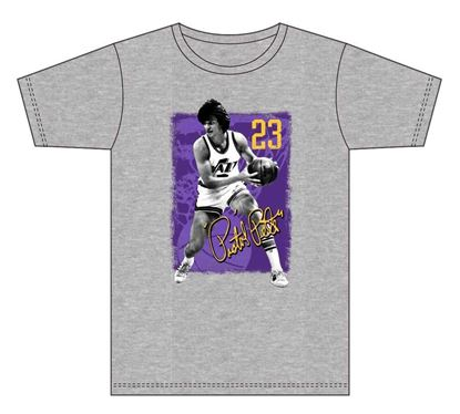 Picture of Pistol Pete #23 Grey T-Shirt Jazz23 design