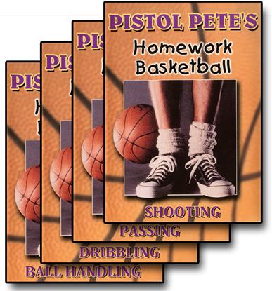 Picture of Pistol Pete's Homework Basketball - 4 DVD Set