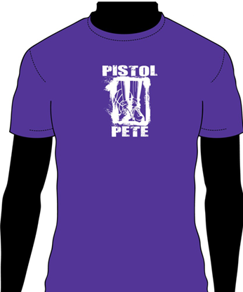 Picture of Pistol Pete #23 Purple T-shirt